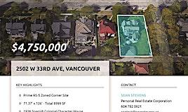 2502 W 33rd Avenue, Vancouver, BC, V6N 2E6